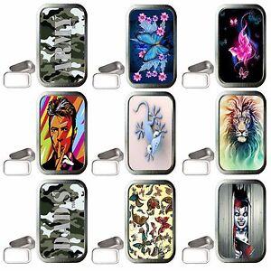 Various Designs 1oz Silver Tobacco Tin, Stash Can, Survival TIN, Small Pocket