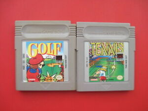 Golf & Tennis Nintendo Original Game Boy Games *Cleaned & Tested*