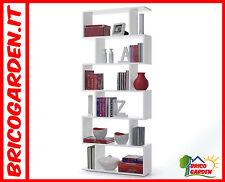 Libreria Scaffale bianco lucido arredo casa soggiorno salotto di Design moderno