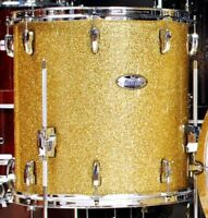 "Pearl Masters Complete MCT 14"" X 14"" Floor Tom/#347/Bombay Gold Sparkle/New"
