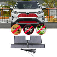 Black Front Mesh Grille Grid Inserts Insect Net For TOYOTA RAV4 XA50 2019-2020