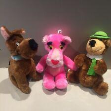 Vintage Hanna Barbera Pink Panther Yogi Bear Scooby Doo 80s Might Star Plush