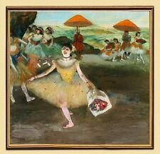 Impresionismo edgar degas bailarina de ballet um1877 sobre lienzo 29 en el marco de oro