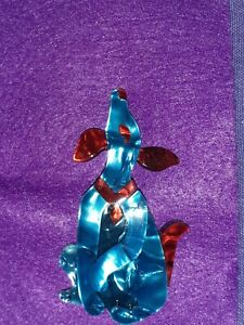resin  ACRYLIC  art deco  style Dog Brooch