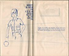 ▬► PATRON Couture Modes et Travaux - Chemisette 8 à 10 ans Juillet 1972