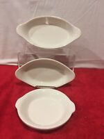 BUFFALO CHINA 3 Oval  Round Casserole Au Gratin Baking Dishes Restaurant White