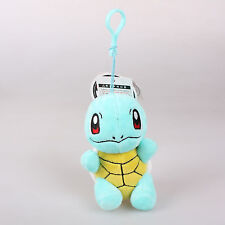 12Cm Pokemon Squirtle Plush Toys Soft Stuffed Doll Key Chain Pendant Bag Strap