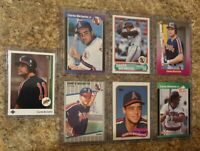 (7) Dante Bichette 1989 Upper Deck Fleer Donruss Topps Score Rookie Card Lot RC