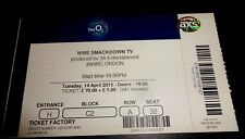 WWE Smackdown TV Used Concert Ticket O2 Arena London April 2015