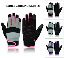 Ladies Work Gloves Protection Mechanic Tradesman Farmer's Gardening DIY Builders
