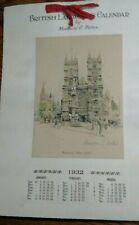 1932 British Landmarks Calendar Marjorie C. Bates (4) Signed Prints London