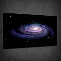 SPACE GALAXY MILKY WAY ASTRONOMY STARS BOX CANVAS PRINT WALL ART PICTURE