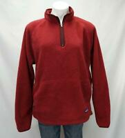 Patagonia Synchilla Fleece 1/4 Zip Pullover Sweater Red Women's XL