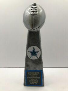 Dallas Cowboys 5X Super Bowl Champions Lombardi Style Trophy Troy Aikman Emmitt