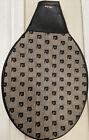 Vintage Pierre Cardin Signature Canvas Black Leather Accents Tennis Raquet Cover