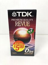 New listing 3 Pack Tdk Revue T-120 6 Hours Blank Vhs Record Video Tapes New Factory Sealed