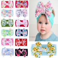 Hair Accessories Big Bow Knot Turban Baby Nylon Headband Newborn Headwraps