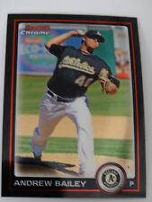 2010 Bowman Chrome #95 Andrew Bailey Oakland Athletics A's Baseball Card