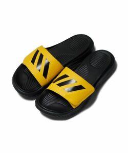 Adidas FX1327 Men Swim Alphabounce BB Slippers Synthetic Sandals Yellow/black