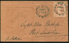 South Australia 1862 (Sep.11) cover to Port Lincoln with oversized example