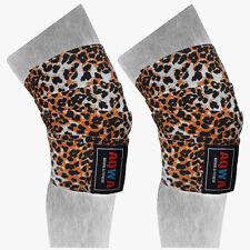 "Aqwa Knee Wraps Power Sollevamento Pesi Palestra cinghie bendaggio Guard Pads Leopard, 78"""
