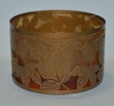 YANKEE CANDLE AMBER LEAVES COPPER JAR CANDLE SHADE TOPPER ACCESSORY METAL GLASS