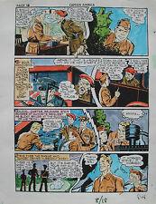 JACK KIRBY Joe Simon CAPTAIN AMERICA #8 pg 18 HAND COLORED ART Theakston 1989 Comic Art