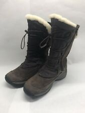 Women's Merrell Encore Apex Brown Boots Sz 6.5 Leather Waterproof Insulated NWOB