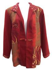 Nancy Bolen City Girl Womens Dress Jacket Orange Floral Career Casual Size XL