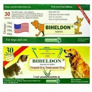 30 Tabs Dog Cat Wormer Broad Spectrum Dewormer Woming