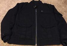 Men's Ron Chereskin Signature Collection Black Heavy Wool Coat - Medium M