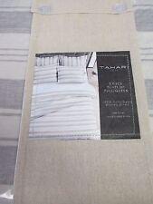 New TAHARI Linen Cotton Ivory Gray Striped Duvet Set - Full/Queen