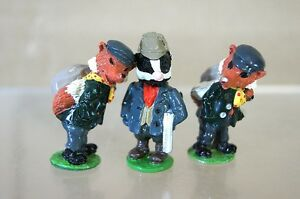 GOOD SOLDIERS BRITAINS WIND in the WILLOWS BADGER & ROBBING FOX LEAD FIGURE mv