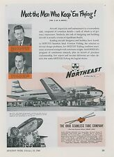 1948 OSTUCO Aircraft Tubing Ad Northeast Airlines Airplane Aviation
