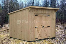 7' x 8'  Garden Storage Lean-To Roof  Shed Plans #80708