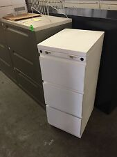 3 DRAWER LETTER SIZE FILE CABINET by HAWORTH OFFICE FURNITURE in WHITE COLOR