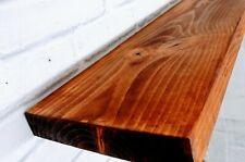 80 -120cm Rustic Reclaimed Scaffold Board Shelves With Brackets Handmade in UK