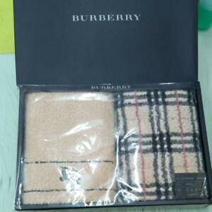 Burberry Face Towel 100% Cotton Set of 2 in Box Made in Japan New