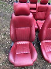 2003 Alfa Romeo 147 Coupe Red Leather Seats