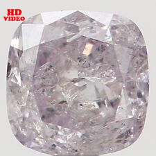 0.21 Ct Natural Loose Diamond Cushion Shape Pink Color 3.44X3.36X2.20MM I2 N5063