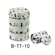 Cylindrical Metal Sugar Coffee Tea Tin Jar Container Candy Sealed Cans Box Boil