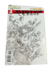New listing Justice League 1 6th print Jim Lee Sketch Cover
