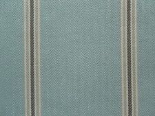 Sanderson Curtain Fabric ANNIS 0.65m Delph Blue/Chocolate Country Stripe 65cm