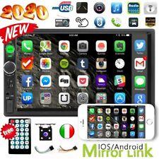 "7"" AUTORADIO 2DIN STEREO RADIO MP5 MP3 LETTORE FM USB BLUETOOTH +4LED TELECAMERA"