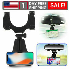 New listing F4 Car Rearview Mirror Mount Stand Holder Cradle For Universal Cell Phone Gps w