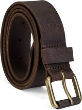 Timberland Men's 40MM Milled Pull Genuine Leather Belt