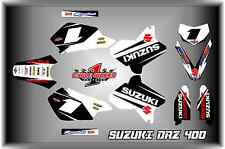 Suzuki DRZ400 DRZ 400  Supermoto SEMI CUSTOM GRAPHICS KIT SUPERMOTARD wht
