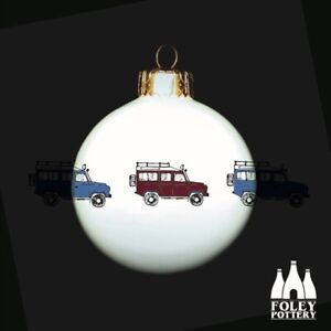 CB: Land Rover, Off Road, Tribute Fine bone China Bauble Gift By Foley Pottery