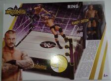 WWE WWF MATTEL WRESTLEMANIA WRESTLING RING PLAYSET WITH BONUS RANDY ORTON FIGURE