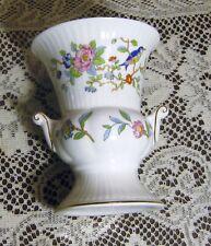 AYNSLEY PEMBROKE VASE Fine English Bone China Birds & Flowers Gold Trim England